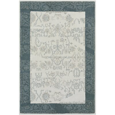 Benfield Hand-Tufted Navy/Beige Area Rug Rug Size: 2 x 3