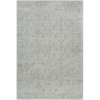 Alexis Hand-Tufted Medium Gray/Sage Area Rug Rug Size: Rectangle 5 x 76