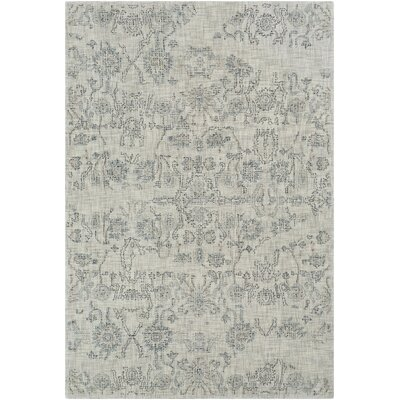 Benfield Hand-Tufted Medium Gray/Teal Area Rug Rug Size: 8 x 10