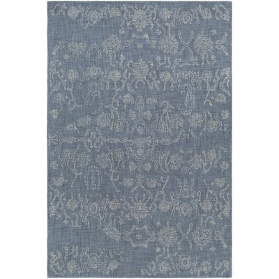 Alexis Hand-Tufted Denim/Butter Area Rug Rug Size: 2 x 3