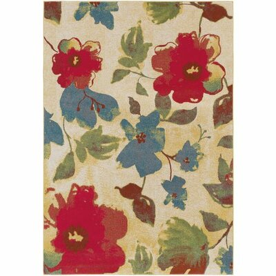 Doris Saffron/Bright Red Area Rug Rug Size: Rectangle 22 x 4