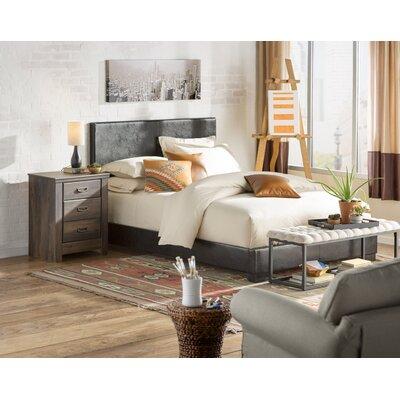 Marjorie Queen Upholstered Panel Bed Finish: Black