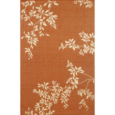 Aldreda Terracotta Vine Indoor/Outdoor Area Rug Rug Size: Rectangle 33 x 411
