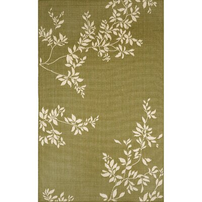Aldreda Green Vine Indoor/Outdoor Rug Rug Size: Rectangle 33 x 411