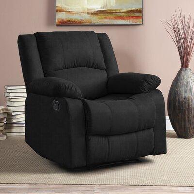 Hildegarde Recliner Upholstery: Black