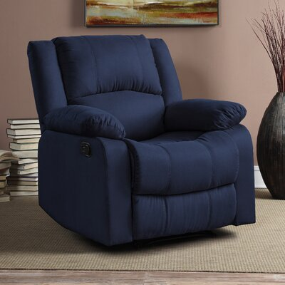 Hildegarde Recliner Upholstery: Navy Blue