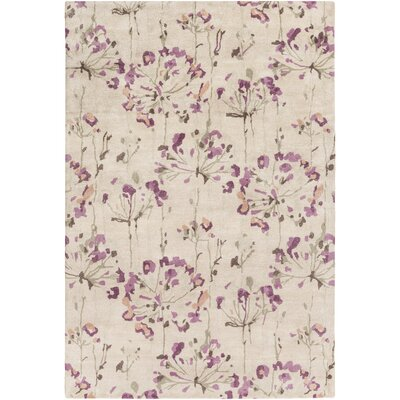 Walshville Hand-Tufted Floral and paisley Area Rug Rug Size: Rectangle 33 x 53