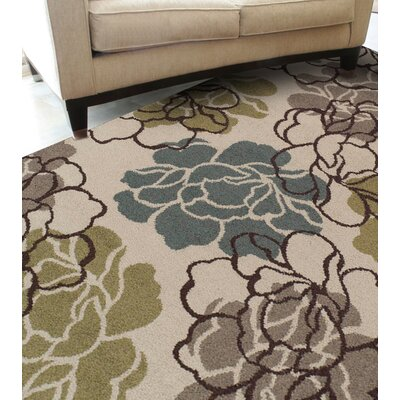 Massey Ivory Floral and Plant Area Rug Rug Size: Rectangle 82 x 10