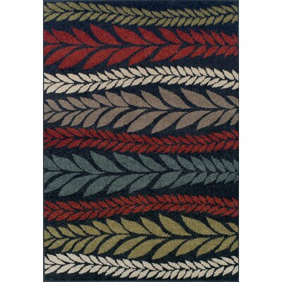 Massey Red Area Rug Rug Size: Rectangle 33 x 53