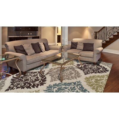 Massey Ivory Area Rug Rug Size: Rectangle 411 x 7