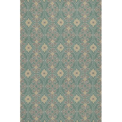 Bennet Handmade Aqua Indoor/Outdoor Area Rug Rug Size: Rectangle 76 x 96