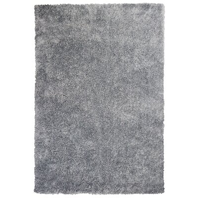 Angela Silver Silky Shag Area Rug Rug Size: Rectangle 5 x 7