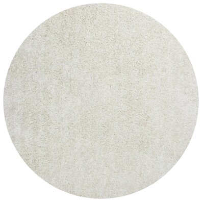 Angela Hand Woven Ivory Area Rug Rug Size: Round 56