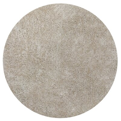 Angela Champagne Silky Shag Area Rug Rug Size: Round 56
