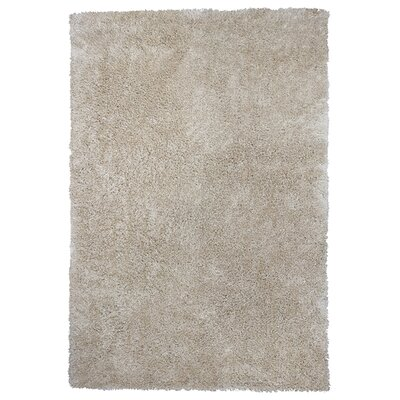 Angela Champagne Silky Shag Area Rug Rug Size: Rectangle 76 x 96