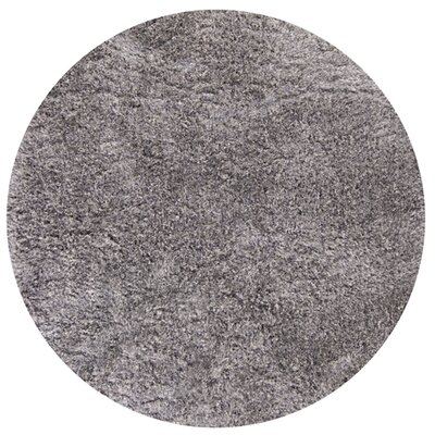 Brightmoor Hand-Woven Platinum Area Rug Rug Size: Round 56