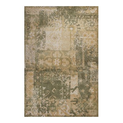 Mcintosh Vintage Gold and Sage Area Rug Rug Size: 26 x 42