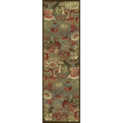 Trinway Floral Area Rug Rug Size: 53 x 77