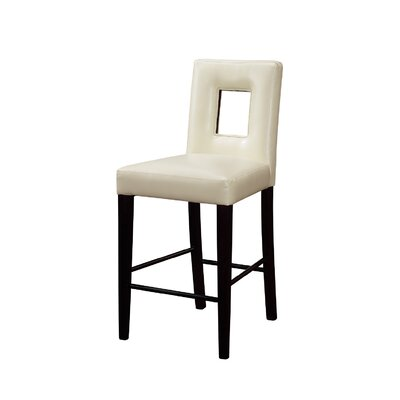 Ericsson 27 inch Bar Stool Upholstery: Beige
