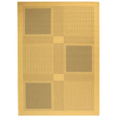 Short Natural / Brown Outdoor Area Rug Rug Size: 67 x 96