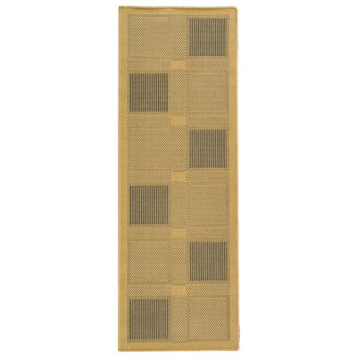 Short Natural / Brown Outdoor Area Rug Rug Size: Runner 24 x 67