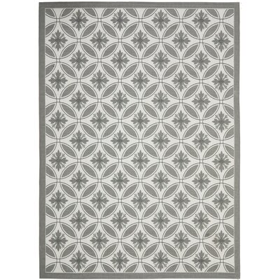Short Light Grey / Anthracite Indoor/Outdoor Rug Rug Size: Rectangle 53 x 77