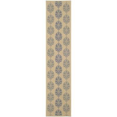 Short Natural / Blue Outdoor Area Rug Rug Size: Runner 24 x 911