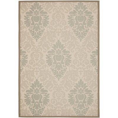 Short Beige Indoor/Outdoor Area Rug Rug Size: Rectangle 53 x 77