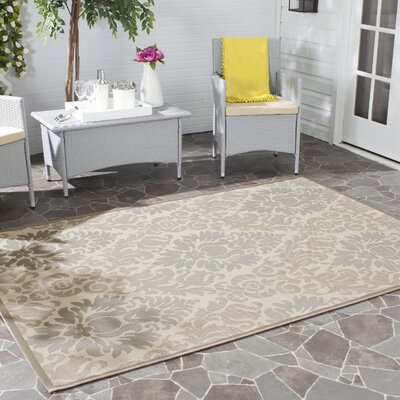 Short Beige Indoor/Outdoor Area Rug Rug Size: Rectangle 27 x 5