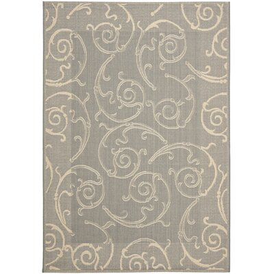 Short Grey / Natural Indoor/Outdoor Rug Rug Size: Rectangle 53 x 77