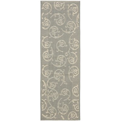 Alberty Grey / Natural Indoor/Outdoor Rug Rug Size: Runner 24 x 67