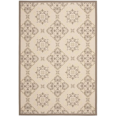 Short Beige/Dark Beige Indoor/Outdoor Loomed Rug Rug Size: Rectangle 8 x 112
