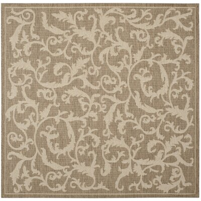 Welby Brown/Natural Outdoor/Indoor Area Rug Rug Size: Square 67