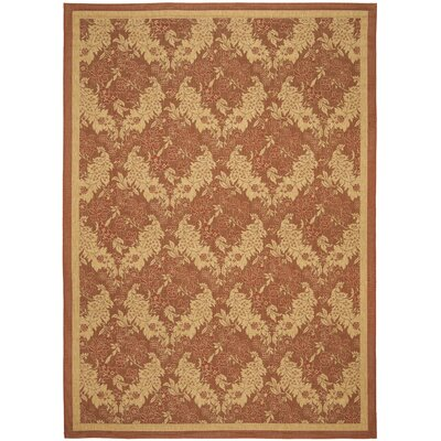 Short Brick Outdoor Rug Rug Size: Rectangle 8 x 112