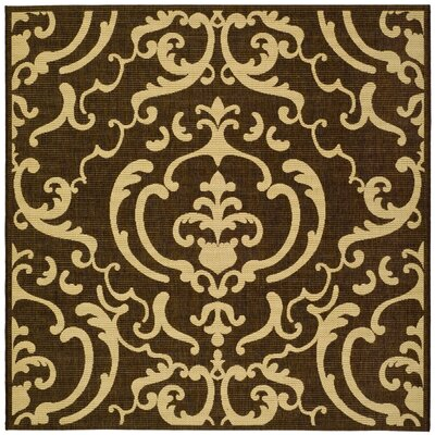 Short Chocolate/Natural Outdoor Rug Rug Size: Square 710