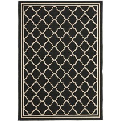 Short Black / Beige Rug Rug Size: 67 x 96