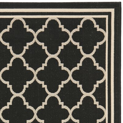 Short Black / Beige Rug Rug Size: Rectangle 9 x 126