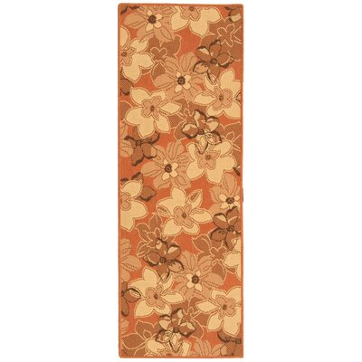 Short Terra Natural / Brown Contemporary Rug Rug Size: Runner 2'4
