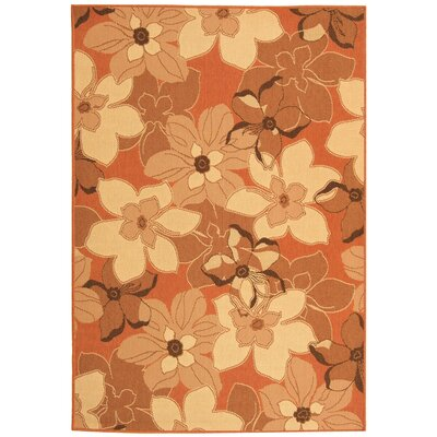 Short Terra Natural / Brown Contemporary Rug Rug Size: Rectangle 4' x 5'7
