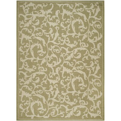 Short Indoor/Outdoor Area Rug in Olive/Natural Rug Size: Rectangle 9 x 126