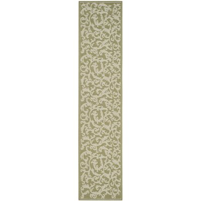 Short Indoor/Outdoor Area Rug in Olive/Natural Rug Size: Rectangle 27 x 5