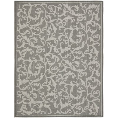 Short Anthracite Light Grey Area Rug Rug Size: 9 x 12
