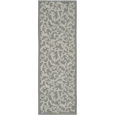 Short Anthracite Light Grey Area Rug Rug Size: Runner 23 x 67