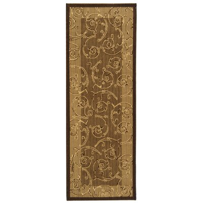 Short Brown & Natural Outdoor Area Rug Rug Size: Rectangle 27 x 5
