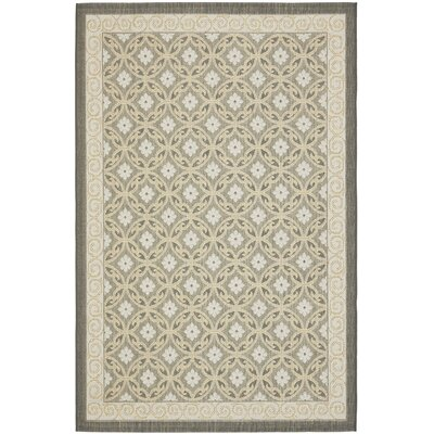 Short Anthracite / Light Grey Woven Indoor/Outdoor Rug Rug Size: 67 x 96