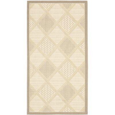 Short Beige / Dark Beige Indoor/Outdoor Nice Rug Rug Size: Rectangle 27 x 5