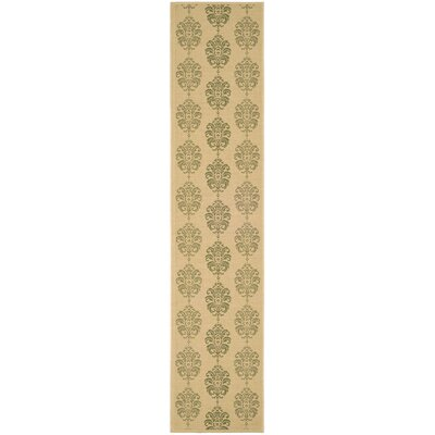 Short Natural / Olive Outdoor Area Rug Rug Size: Runner 23 x 14