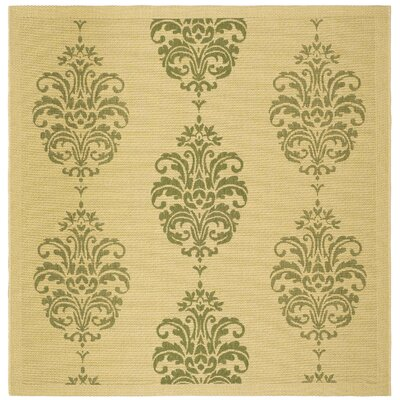 Short Natural / Olive Outdoor Area Rug Rug Size: Square 710