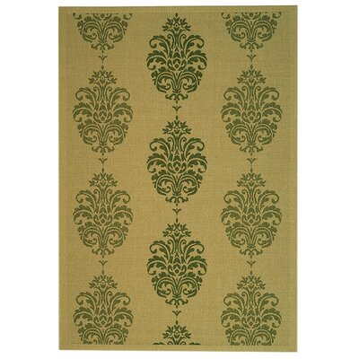 Welby Natural / Olive Outdoor Area Rug Rug Size: 67 x 96
