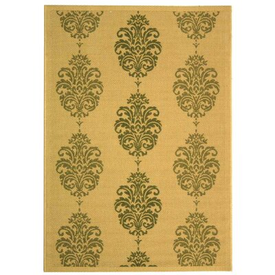 Short Natural / Olive Outdoor Area Rug Rug Size: Rectangle 53 x 77